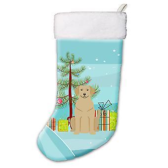 Веселая Рождественская елка Палевый лабрадор Рождественский чулок