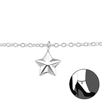 Star - 925 Sterling Silver Anklets - W31578x