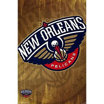 New Orleans Pelicans - Logo 13 Poster Poster Print