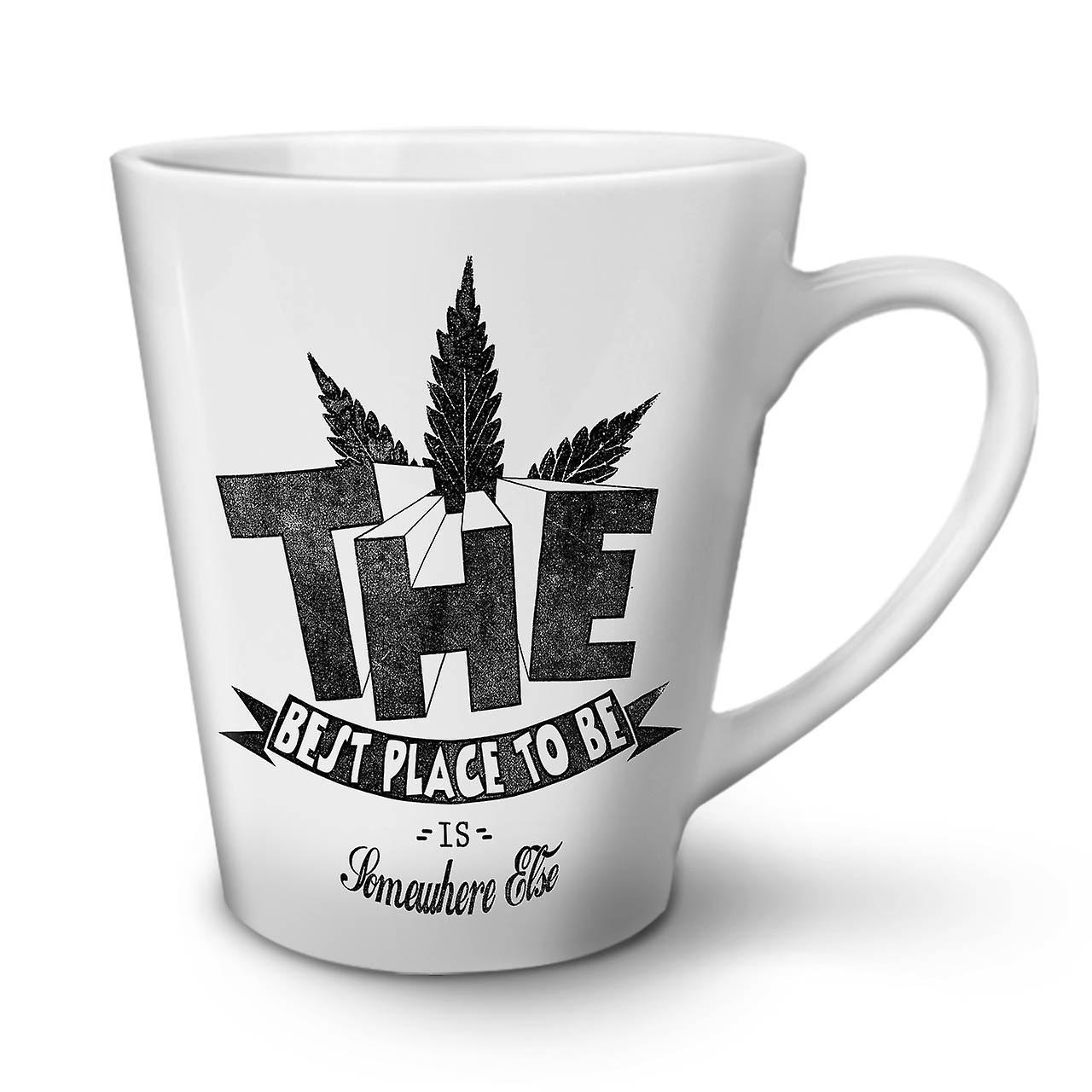 Best Place Weed Pot NEW White Tea Coffee Ceramic Latte Mug 12 oz | Wellcoda