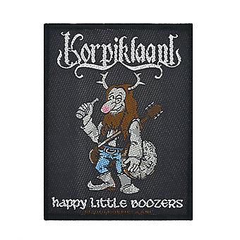 Korpiklaani Happy Little Boozer gewebten Patch