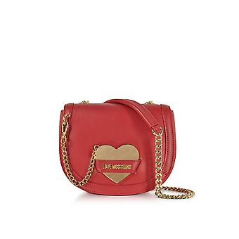 Love Moschino ladies JC4074PP15LI0500 red leather shoulder bag