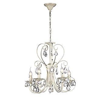 Maytoni Lighting Princess Elegant Collection Chandelier, Cream Gold
