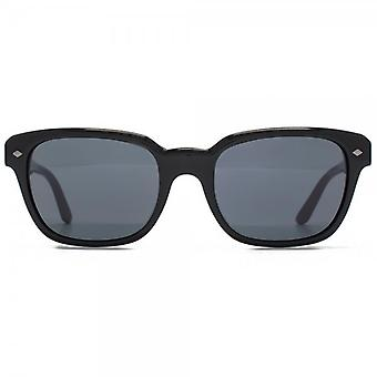 Giorgio Armani Frames Of Life Classic Square Sunglasses In Black