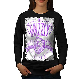 Grizzly Bear Club Women BlackSweatshirt | Wellcoda