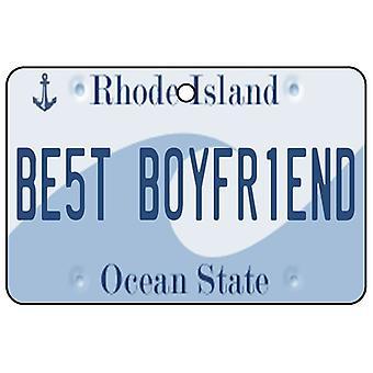 Rhode Island - Best Boyfriend License Plate Car Air Freshener
