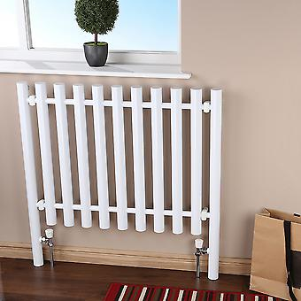 Heated Designer Radiator - Fence Feature - White - H800 x W800mm
