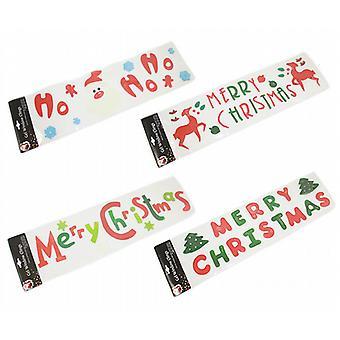 Window Stickers, - kerst ontwerp - Set van 4 gel