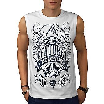 Zukunft gehört Slogan Männer WhiteSleeveless T-shirt | Wellcoda