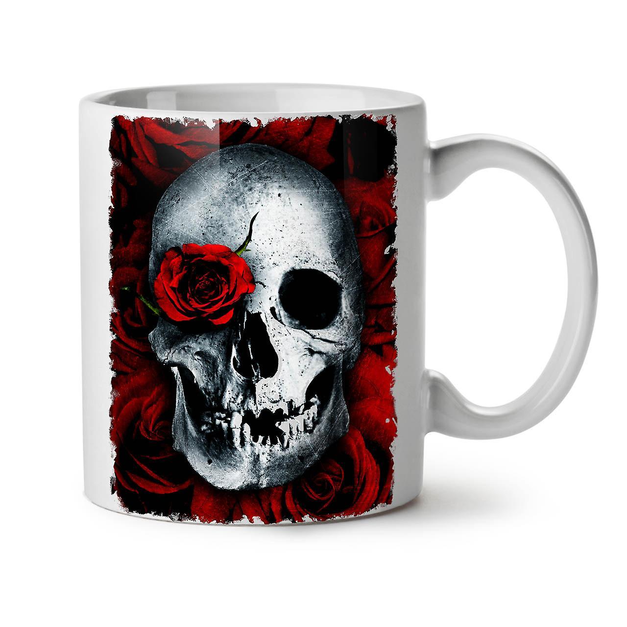 Thé Café Tasse Crânes Fleur OzWellcoda Nouveau Blanc Rose 11 Céramique tBrdxhCsQ