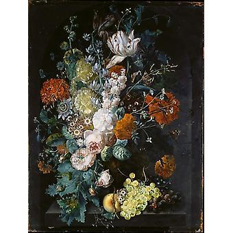 En Vase av blomster Poster trykk av Margareta Haverman (18 x 24)
