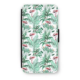iPod Touch 6 Flip Case - Flamingo leaves