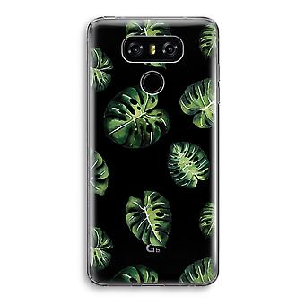 LG G6 Transparent Case - Tropical leaves