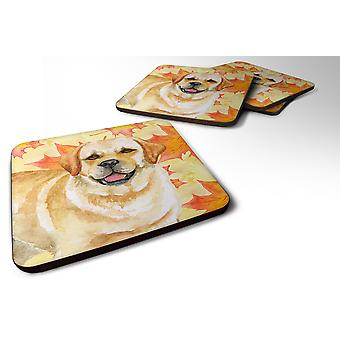 Set of 4 Golden Retriever Fall Foam Coasters Set of 4