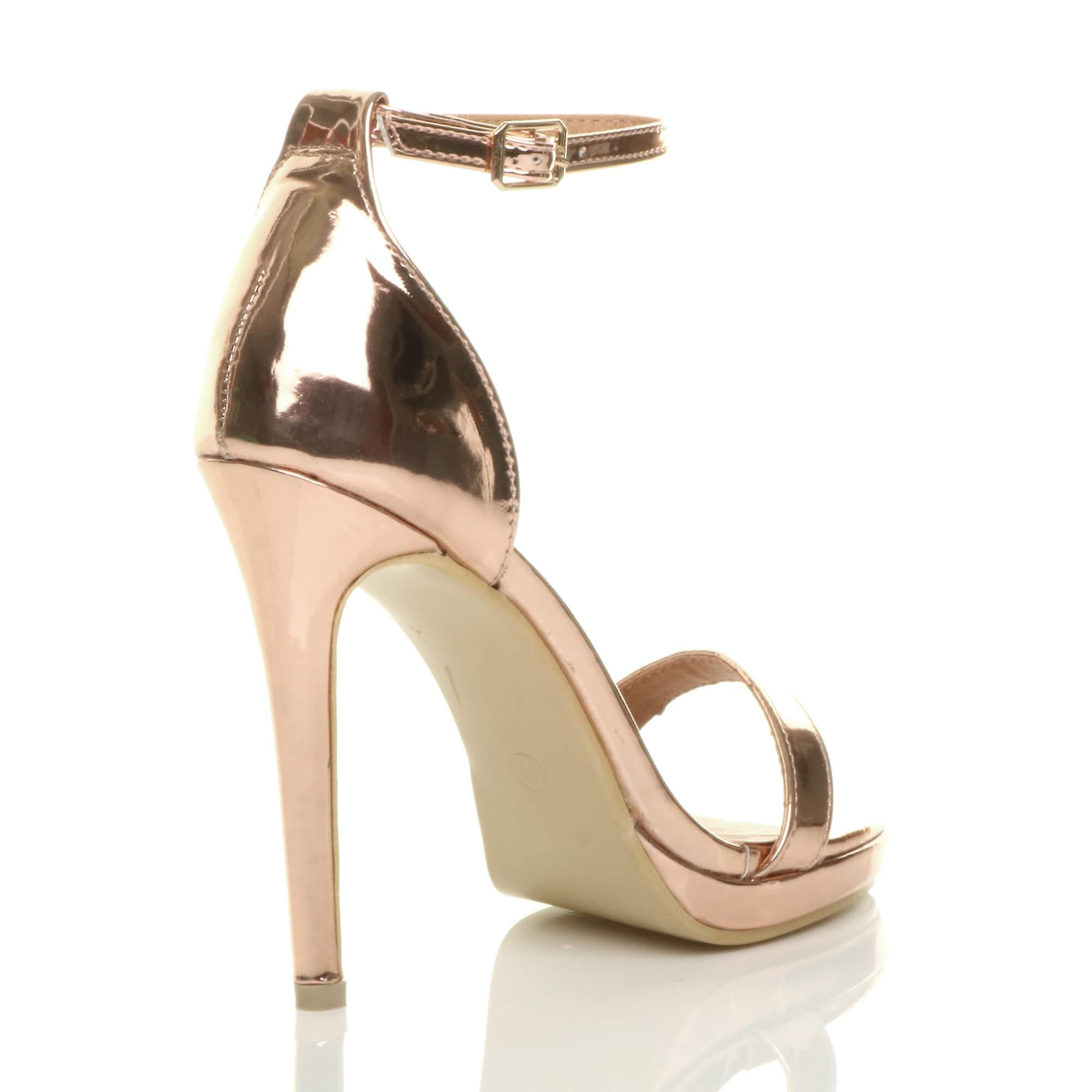 heel high barely toe there womens peep strap sandals buckle Ajvani ankle X5wxfE1qq