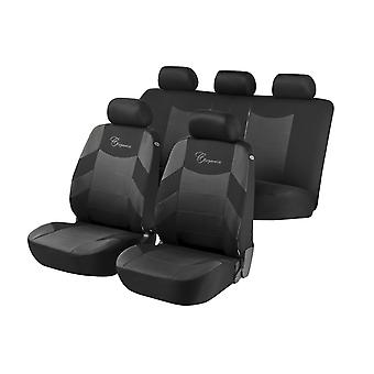 Elegance Car Seat Cover - Grey & Black For Nissan NOTE 2006-2013