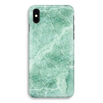 Iphoneskal X Full Print - grön marmor
