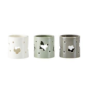 KJ-Sammlung von 3 Teelichthalter, Blume