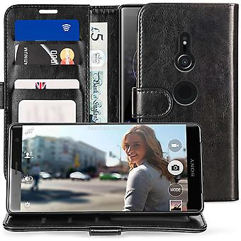 Sony Xperia XZ2 PU leder ID staan portemonnee - Black