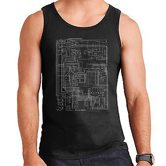 Apple II Computer Schematic Men's Vest