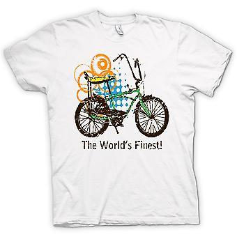 Womens T-shirt - Chopper Bike - World's Finest - Funny Graphic Design