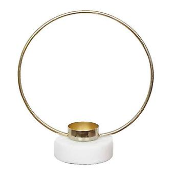 Candle holder ring gold 20 cm