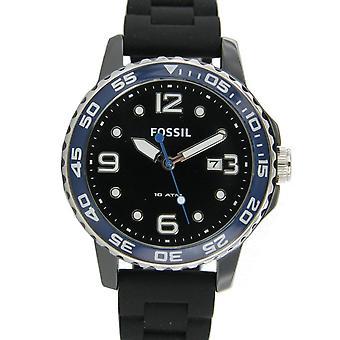 Fossil men's watch wristwatch ceramic silicone CE5004