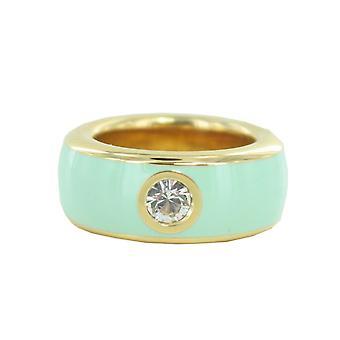 ESPRIT women's ring rostfritt stål guld fancy turkos ESRG12194O1