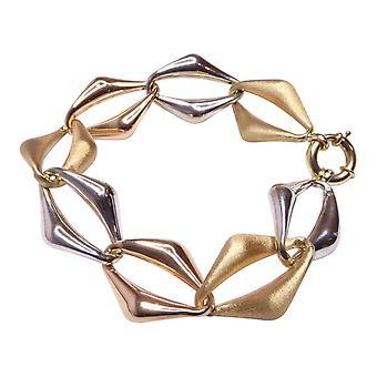 Tricolor gouden armband
