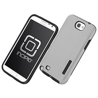 Incipio Dual Pro Shine Case for Samsung Galaxy Note 2 - Silver/Black (SA-326)