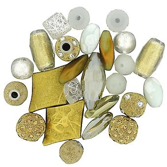 Inspirations Beads 50g-White Gold