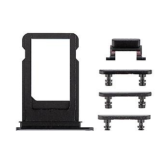 Black Side Buttons Set with SIM Tray For iPhone 7