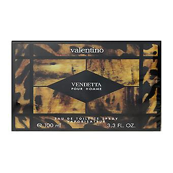 Valentino Vendetta Pour Homme Eau De Toilette Spray 3.4Oz/100ml New In Box