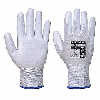 Portwest - ESD Antistatic PU Palm Grip Glove (1 Pair Pack)
