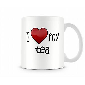 J'aime mon thé imprimé tasse