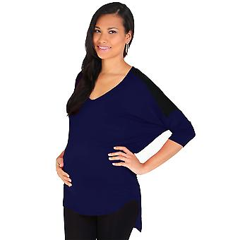 KRISP  Maternity Womens Casual Baggy Jersey Top 3/4 Sleeve Dip Hem Long T Shirt Tunic