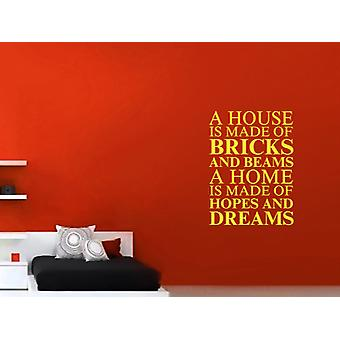 A house is made of Wall Art Sticker - Sulphur