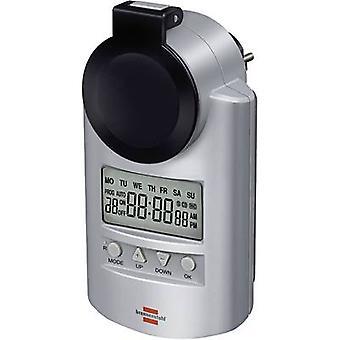 Brennenstuhl 1507491 temporizador/potencia tira digital 7 días 3680 W IP44 cuenta regresiva modo, modo de RND