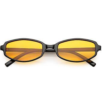 Okulary przeciwsłoneczne retro prostokąt Slim kolor broni barwionym obiektyw 54mm