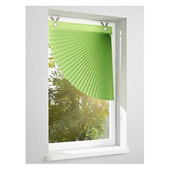 Heine home Raffarin blind opaque pleated fan green DrawString stopper 46/40 cm