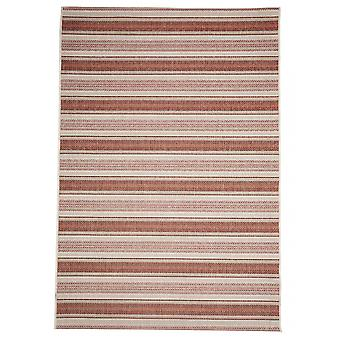 Outdoor rug red brown contemporary Terrace / balcony Riga rust red 160 / 230 cm carpet indoor / outdoor - for indoors and outdoors