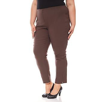 sheego elastic Bengalin stretch plus size short size Brown