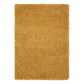Spiral Shaggy Rugs In Mustard
