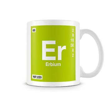 Wetenschappelijke bedrukte Mok met Element symbool 068 Er - Erbium