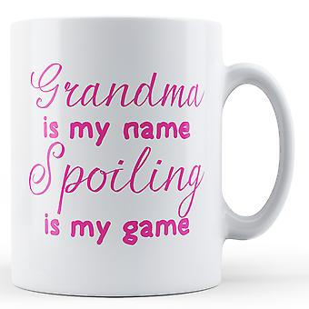 Bestemor er min navnet ødelegge er min spill - trykt krus
