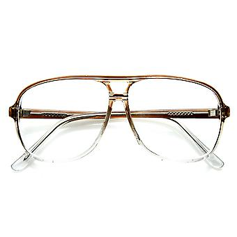 Vintage Inspired Tear Drop Fade Clear Lens Reading RX-able Eyewear Glasses