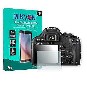 Canon EOS Rebel T1i Screen Protector - Mikvon Clear (Retail Package with accessories)