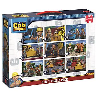 Jumbo Bob The Builder 9 in 1 Jigsaw Puzzles Bumper Pack