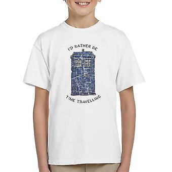 Doctor Who Id Rather Be Time Travelling Kid's T-Shirt