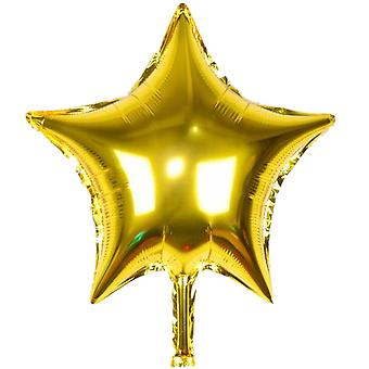 "TRIXES 5 Pack Gold Star 18"" Helium Metallic Celebration Balloon Party Festive Table Decoration"